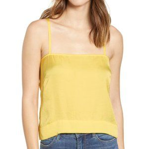 Leith tank top XLarge yellow BNWOT satin camisole